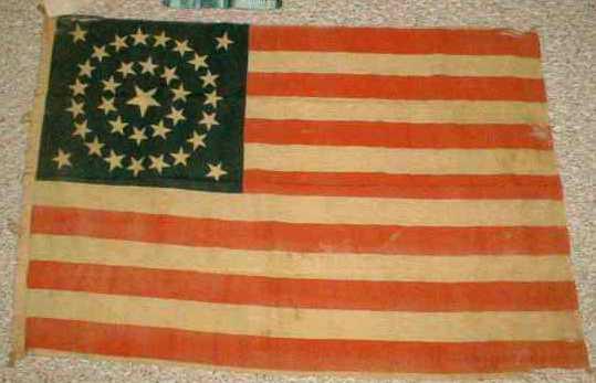 34 star us flags civil war